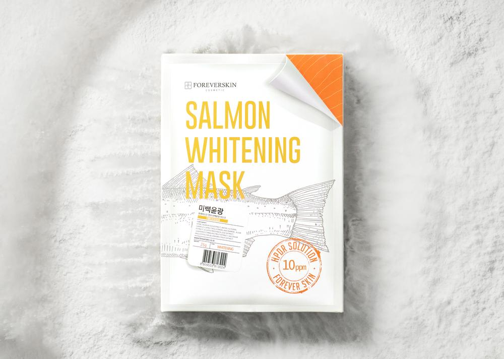 Отбеливающая Лососевая маска Salmon whitening mask от Foreverskin