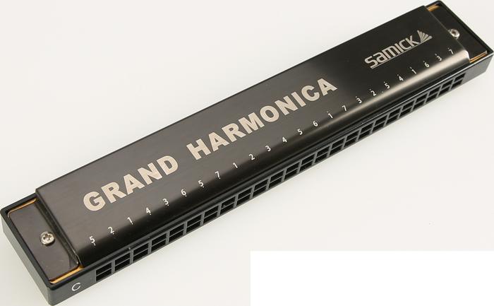 Губная гармоника с удвоенным звуком Тремоло SAMICK Grand harmonica STH-24G