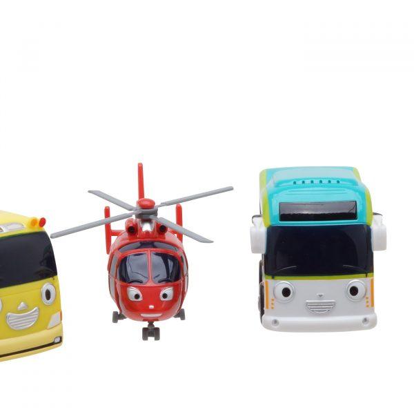 Тайо маленький автобус - Аэро, Шайн, Пинат и Киндер. Набор из 4-х игрушек.