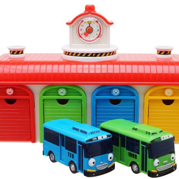 Тайо маленький автобус — Tайо, Роги. Набор из 2-х автобусов + автобусный парк.