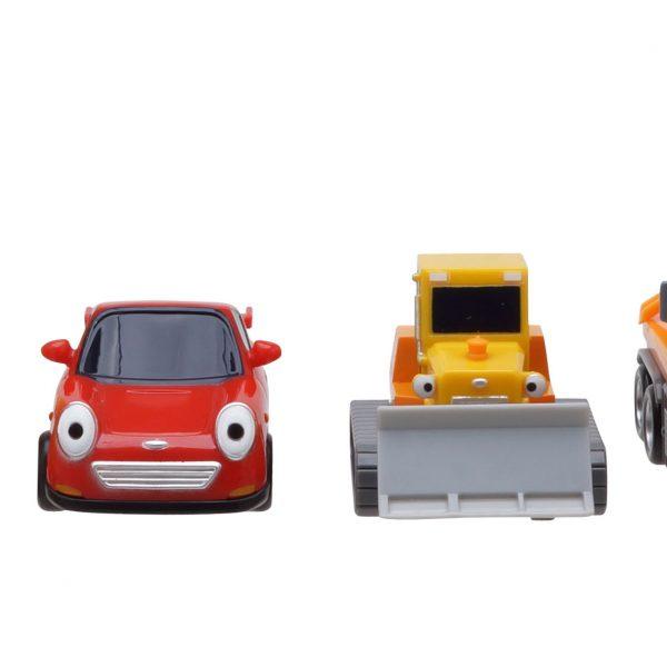 Тайо маленький автобус - Спиди, Билли, Крис и Раби. Набор из 4-х игрушек.