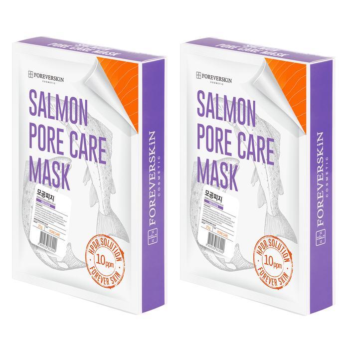 Сужающая поры Лососевая маска Salmon pore care mask от Foreverskin 10шт (1+1)