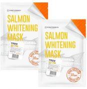 Отбеливающая Лососевая маска Salmon whitening mask от Foreverskin 10шт (1+1)