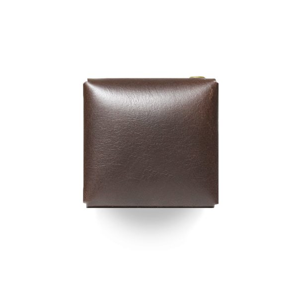Кожаный чехол для презервативов ручной работы (темно-коричневый)