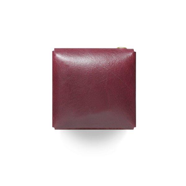 Кожаный чехол для презервативов ручной работы (бордовый)