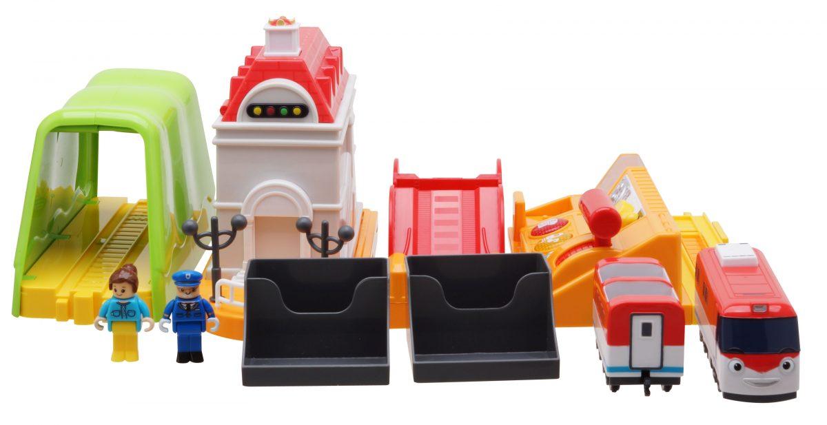 """Титипо - моторизованный игрушечный поезд. Центр управления. Набор """"Железнодорожный путь""""."""