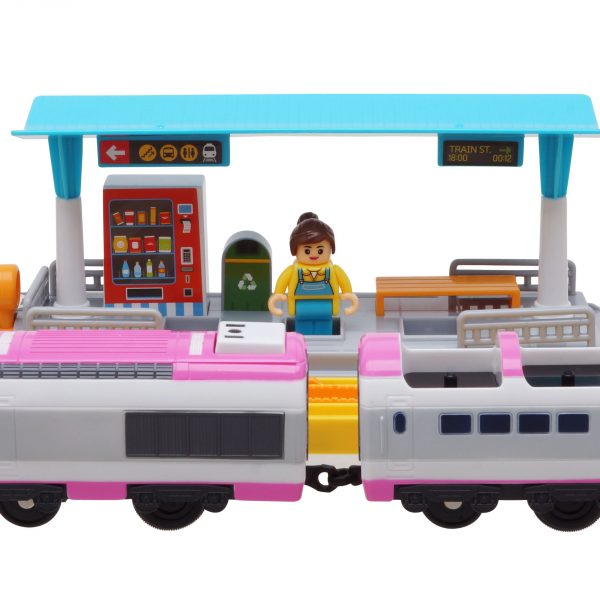 """Титипо Титипо - Джини: Моторизованный игрушечный поезд. Набор """"Железнодорожная Станция"""""""