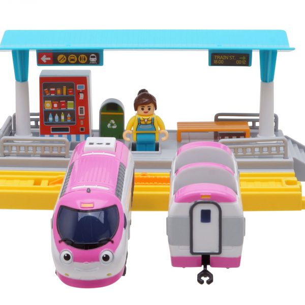 """Титипо Титипо - Джини: Моторизованный игрушечный поезд. Набор """"Железнодорожная Станция""""."""