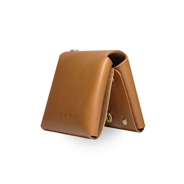 Кожаный чехол для презервативов ручной работы (коричневый)