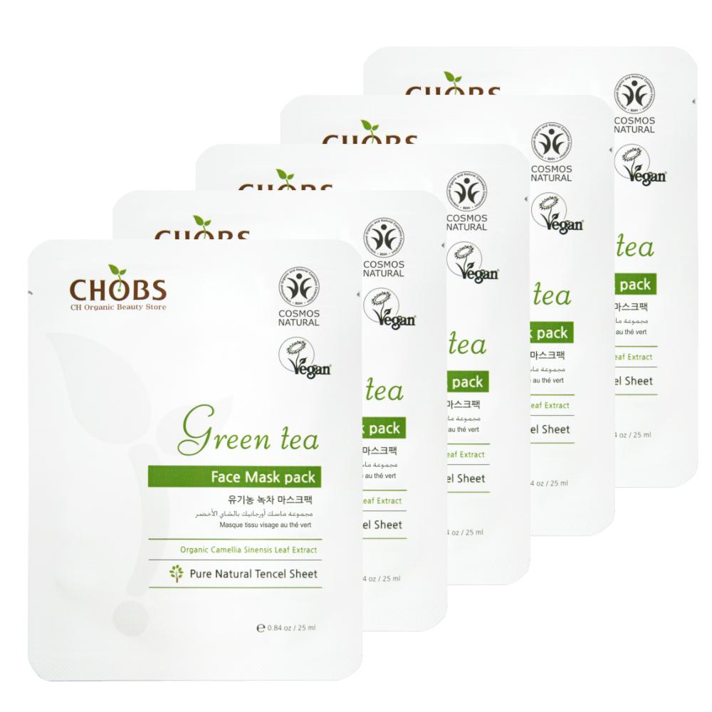 Органическая маска CHOBS Green tea Face Mask