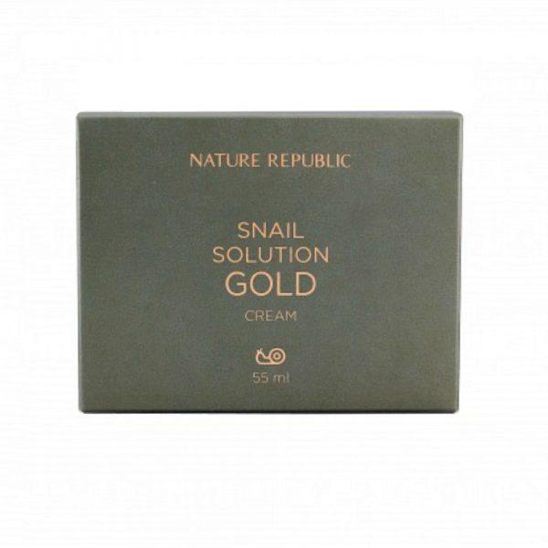 Антивозрастной крем NATURE REPUBLIC SNAIL SOLUTION GOLD CREAM