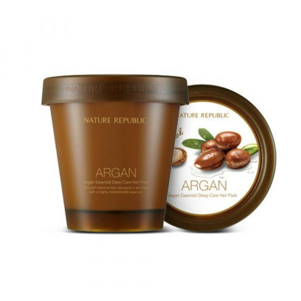 Восстанавливающая аргановая маска для волос NATURE REPUBLIC ARGAN ESSENTIAL DEEP CARE HAIR PACK