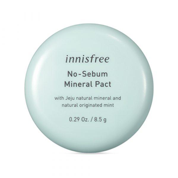 Прозрачная минеральная пудра innisfree No sebum mineral pact