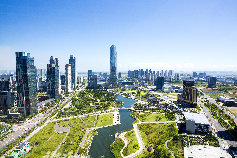 Город будущего Сондо и корейский центральный парк