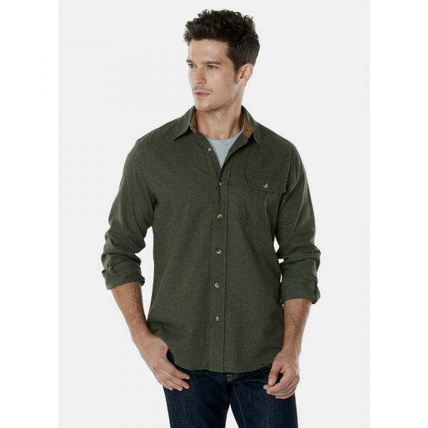 Однотонная мужская рубашка TSLA CQ-HOF113
