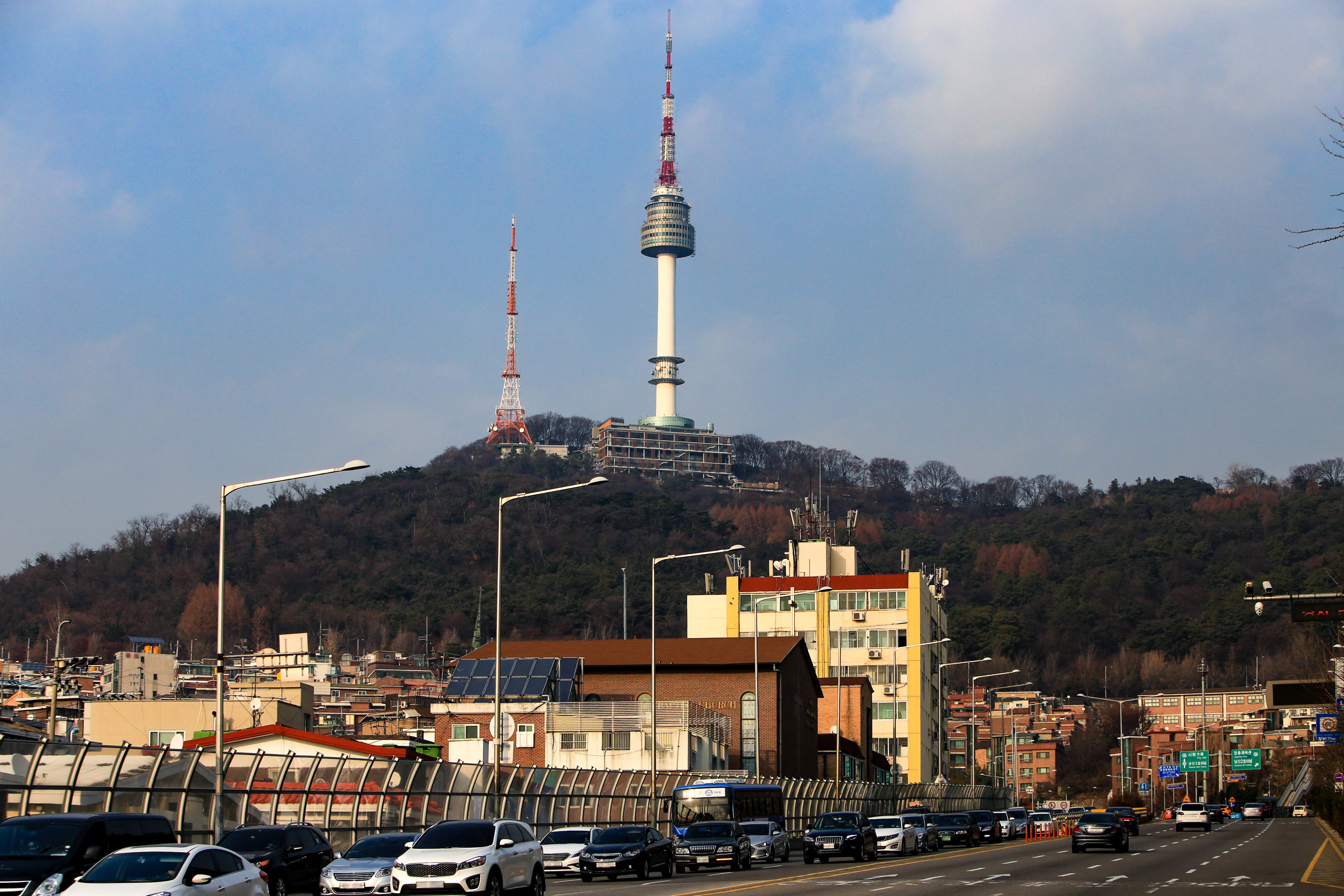 Сеульская башня на горе Намсан