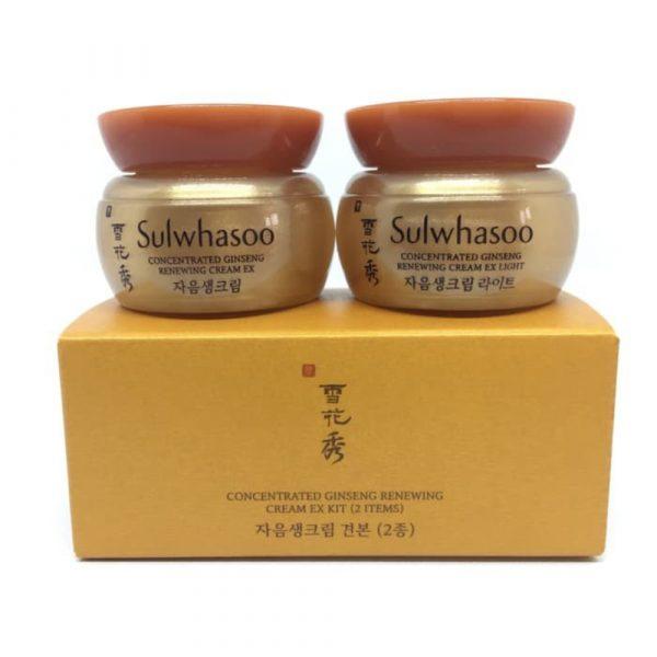 Антивозрастной крем с женьшенем SULWHASOO Concentrated Ginseng Renewing Cream EX Kit