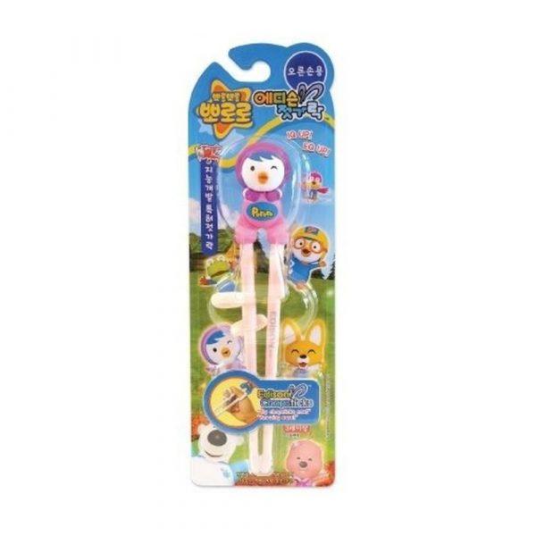 Детские обущающие палочки для еды Pororo Edison Training Chopsticks petty