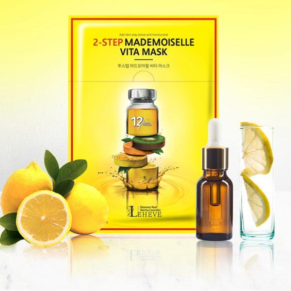 Маска для лица с витаминами LEHEVE 2-Step Mademoiselle Vita Mask
