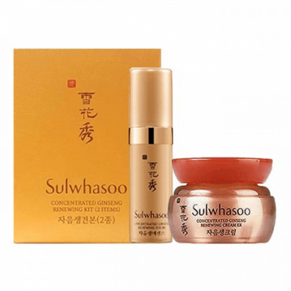 Мини-набор SULWHASOO Concentrated Ginseng Renewing Kit (2 ед)