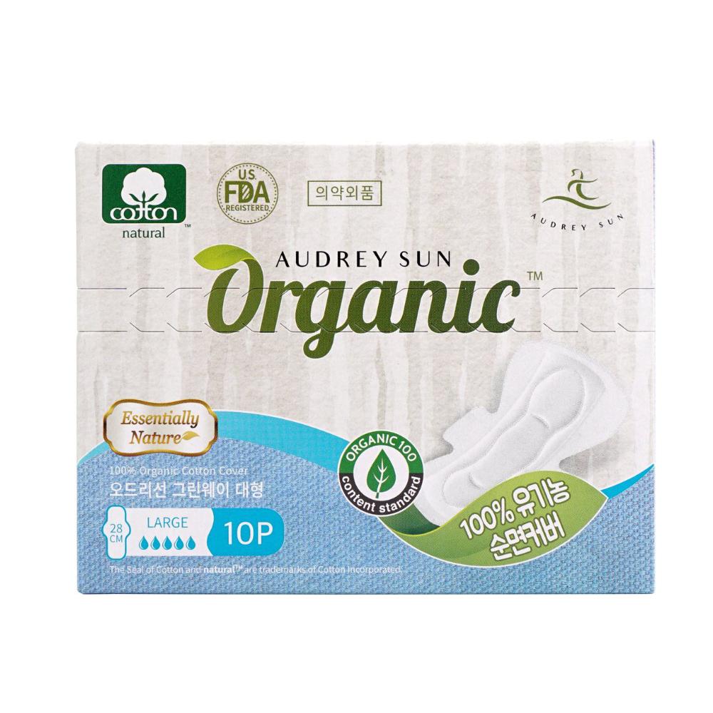 Хлопковая-менструальная-прокладка-Audreysun-Large-Organic-Pads-1
