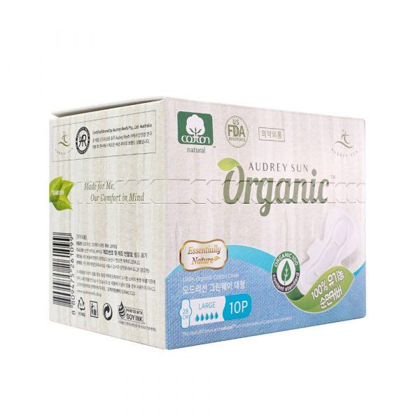 Хлопковая менструальная прокладка Audreysun Large Organic Pads