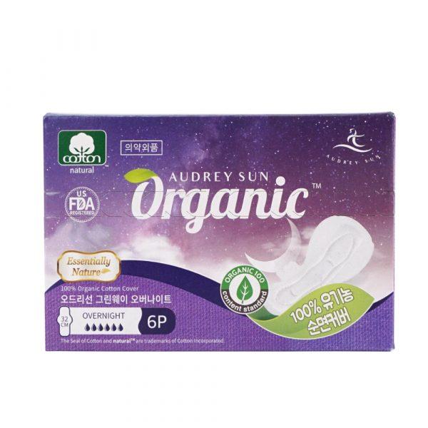 Хлопковая менструальная прокладка Audreysun Overnight Organic Pads