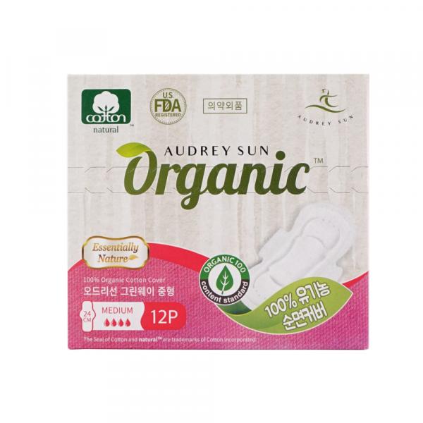 Хлопковая прокладка Audreysun Medium Organic Pads