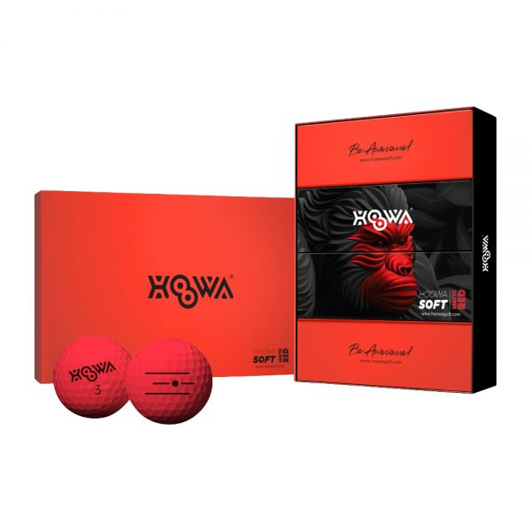 MATTE RED HOOWA Golf Ball