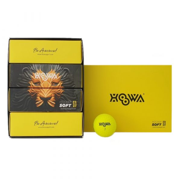MATTE YELLOW HOOWA Golf Ball