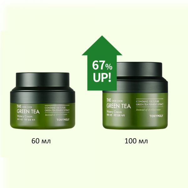 TONYMOLY The Chok Chok Green Tea Watery Cream