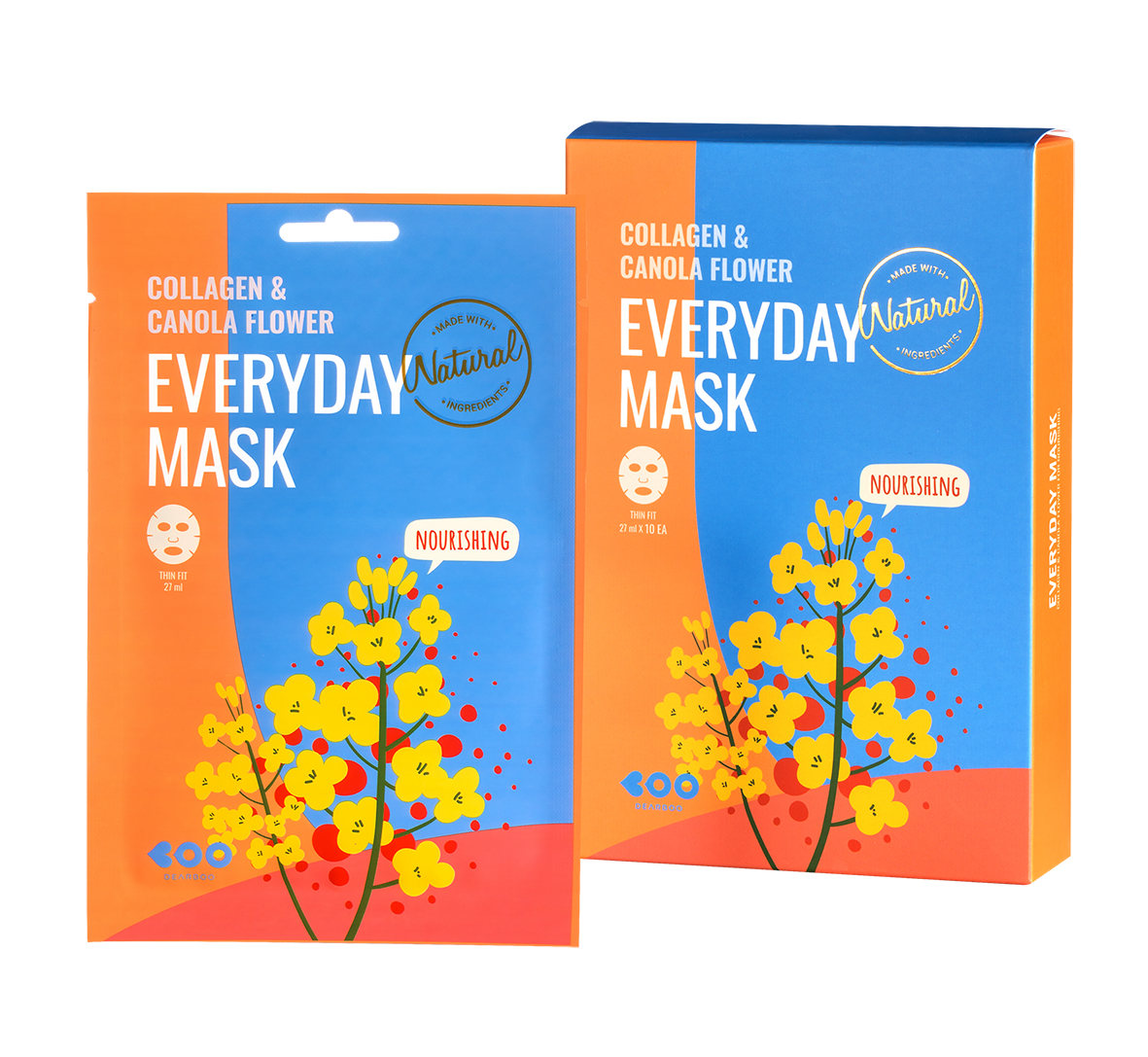 DEARBOO COLLAGEN & CANOLA FLOWER EVERYDAY MASK