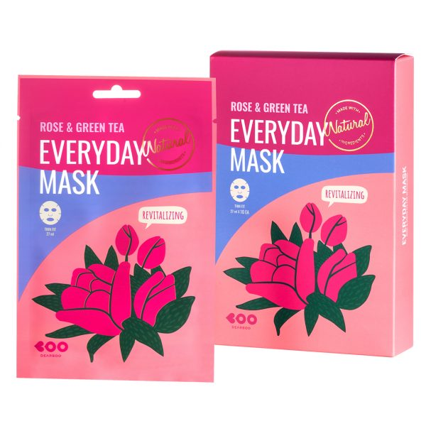 DEARBOO ROSE & GREEN TEA EVERYDAY MASK